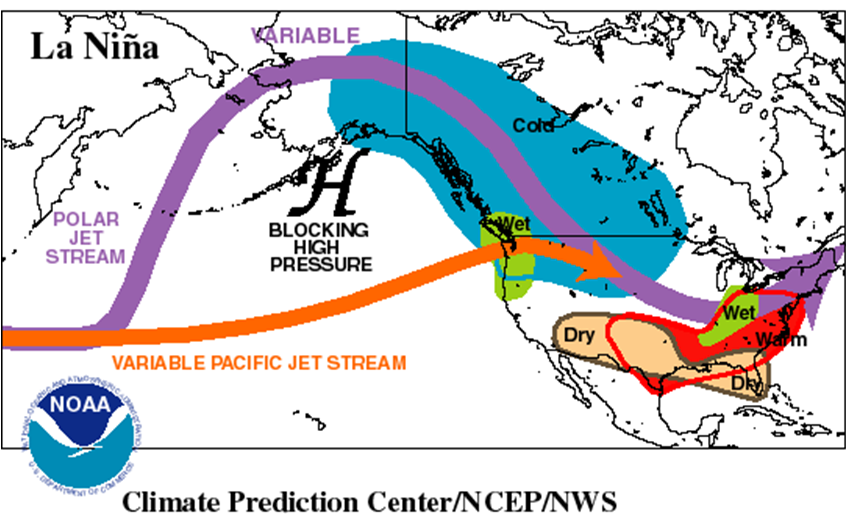 La Nina Pattern NOAA. New Jersey,